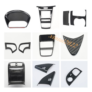 For Acura TLX 2015-2019 12PCS ABS Carbon Fiber Look Car Interior Kit Cover Trim