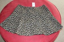 Cotton Animal Print Machine Washable Skirts for Women