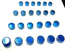 Set Blue Motor Engine Timing Cover Water Pump Intake Bolts Caps Covers Kit Buick