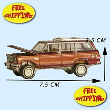 1981 JEEP WAGONEER CHERRY/WOOD JOHNNY LIGTHNING  DIE CAST
