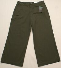 ANA A New Approach Wide Leg Crop Cropped Khaki Pants, Oregano Green, Size 12 NEW