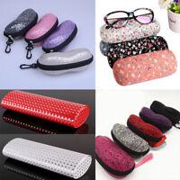 Zipper Sunglasses Hard Eye Glasses Case Eyewear Protector Box + Cleaning Cloth