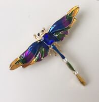 Unique Dragonfly brooch in  enamel on  metal