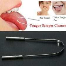 Stainless Steel Tongue Tounge Cleaner Scraper Dental Care Hygiene Oral Mouth