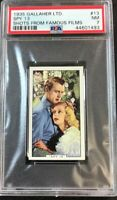 1935 Gallaher Ltd. Shots From Famous Films #13 Spy 13 PSA 7 NM
