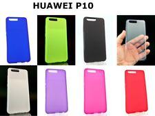 Funda para Huawei P10 Silicona TPU Varios Colores +Protector Templado Opcional