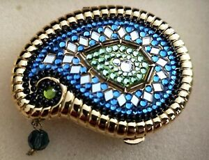 Estee Lauder 2003 compact Lucidity collectible blue India Paisley New Boxed