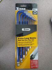 Titan Tools 12714 9-Piece Extra-Long Arm Ball Tip Metric Hex Key Set