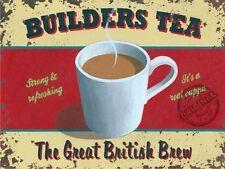 Builders Tea, Great British Brew, Cuppa Mug Kitchen Cafe, Novelty Fridge Magnet