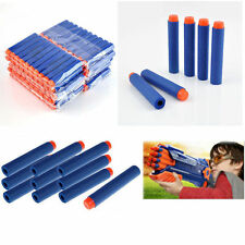 Bullet Darts For NERF Kids Toy Gun N-Strike Round Head Blasters #S Blue 100pcs