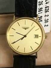Longines L 156.4 Gold Plated Quartz watch comes with box