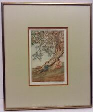 il itait une fois Once Upon A Time Nicole Ouellete Framed Signed Etching Art