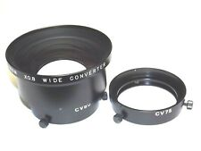 Fujinon Wide Angle Converter Lens 0.8X with CV80 80mm and CV75 75mm adapters