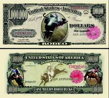 Rodeo Million Dollar Bill Collectible Fake Play Funny Money Novelty Note