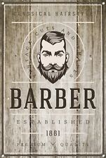 Barber Shop Metal Sign Barber Shop Décor Sign Wall Art Plaques Barber Shop 1033