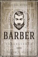 Barber Shop Letrero metal Decor Decoración De Pared Placas 1033