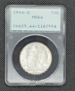 1944-S Walking Liberty Half Dollar | PCGS MS64 Rattler