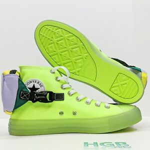 Converse Chuck Taylor All Star Buckle Up Hi Men's Neon Ghost Green 169030C