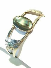 ALPACA - Vintage Silver & Abalone Bracelet - Mexico - Late 20th Century