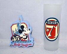 New Disney Parks Magic Kingdom 45th Anniversary Shot Glass  & Antenna topper