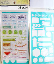 Phrases Creative Year Planner Clear Stamp & Stencil Set Recollections 501852 NEW