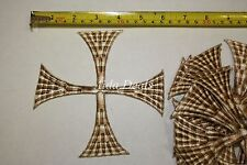 "(12 pcs) Iron Embroidered Religious Patch Cross 5""1/2 x5""1/2 (Design #0025)"