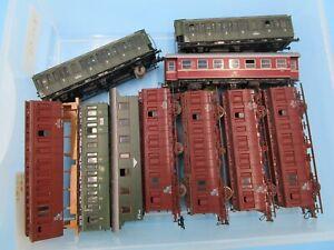 LOT HO Trains Older Passenger Cars Junkyard Parts Marklin Roco Germany Etc