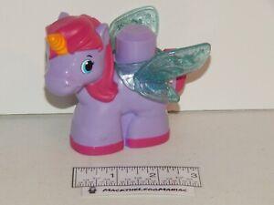 Mega Blocks First Builders 80432 Lil Princess Palace Purple Unicorn w/Wings Only