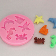 Silicone Mould Cake Decorating Sugarcraft Mold With Seahorse Shells Randomly