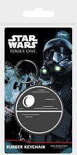 Gummi Schlüsselanhänger STAR WARS ROGUE ONE - Death Star Rubber Keyring NEU 8600