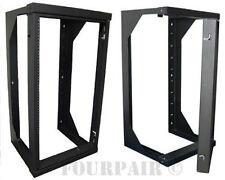 Wall Mount Swing Out Network IT Steel Cabinet Data Audio Rack - 25U - 25