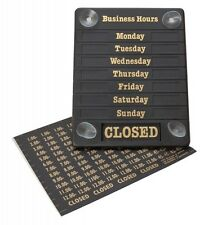 "HOURS OF BUSINESS OPEN/CLOSED SHOP SIGN DOOR NOTICE SIGN 8"" X 6.5"""