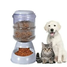Automatic Cat Feeder Pet Dog Water Bottle Dispenser Food Dish Bowl 3.8L