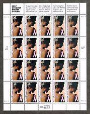 "US SC# 3081 Mint OG NH 32c ""Breast Cancer Awareness"" 1996 Pane of 20 Stamps"