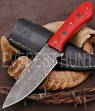 EVEREST HUNT CUSTOM HANDMADE DAMASCUS STEEL HUNTING CAMP SKINNER KNIFE B9-1863