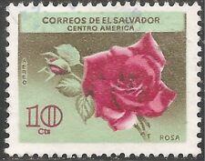 El Salvador Air Post Stamp - Scott #C215/A190 10c Rose Canc/LH 1965
