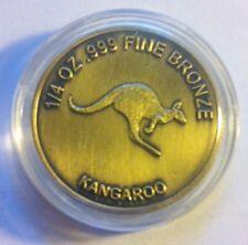 2012 1/4 OZ 999.0 Fine Bronze Bullion Coin (Kangaroo/Australia) b