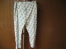 Vintage Unisex Lounge Pants Pajama Bottoms Green White