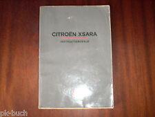 Betriebsanleitung / Handleiding / Instructieboekje Citroen Xsara ,Stand 1998
