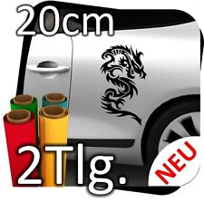 2x 20cm Auto Autoaufkleber Drachen Dragon Drache Tribal Aufkleber Sticker 2 Tlg.
