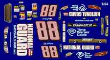 #88 Dale Earnhardt jr Cancer Awareness 2013 1/64th HO Scale Slot Car Decals