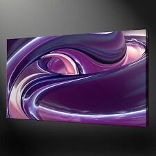 "ABSTRACT PURPLE PINK WAVES CANVAS WALL ART PICTURES PRINTS 20""x16"" FREE UK P&P"