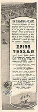 W2220 Obbiettivi fotografici ZEISS TESSAR - Pubblicità del 1926 - Old advert