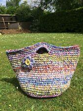 Crochet handmade handbag, tote bag,shopping bag basket bag,New