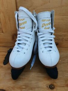 Graf Davos Gold Ice Skates Size 30
