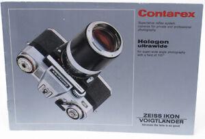 Genuine Original Zeiss Ikon Contarex + Hologon Brochure - 1970 - NICE