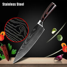 8 Inch Kitchen Knife Damascus Style High Carbon Stainless Steel Pro Chef Knife