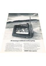 1972 Sony 7-inch Portable TV Television - Vintage Advertisement Print Ad J405