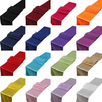 """5pcs Satin Table Runner Rectangle Table Cloth Cover Wedding Party Decor 12""""x108"""""""