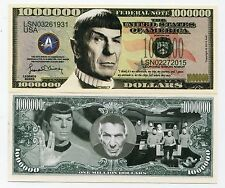 Leonard Nimoy Star Trek Spock Collectible Million Dollar Bill 2015 Novelty Money